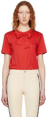Simone Rocha Red Bow Tie T-Shirt