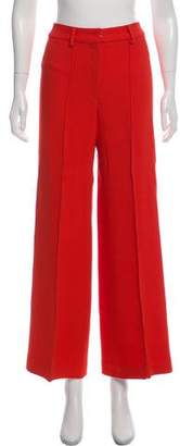Milly Mid-Rise Wide-Leg Pants
