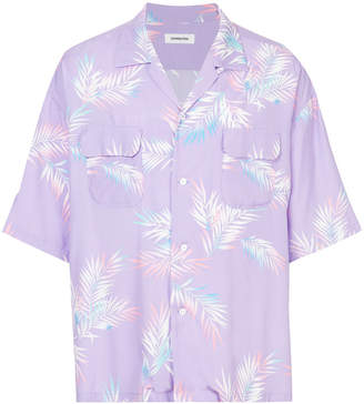 Monkey Time Leaf Print Short-Sleeve Shirt