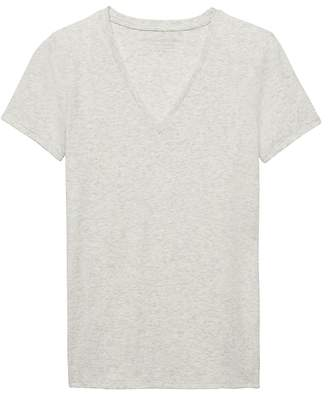 Banana Republic Stretch Cotton-Modal Fitted V-Neck T-Shirt