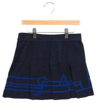 Junior Gaultier Girls' Pleated Rib Knit Skirt w/ Tags
