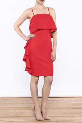 L'atiste Red Side Fall Dress