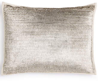 "Calvin Klein Metallic Fringe 12"" x 16"" Decorative Pillow Bedding"