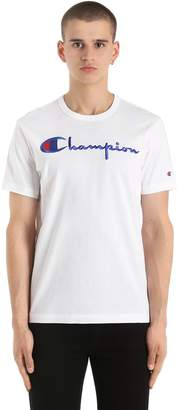 Champion Logo Embroidered Cotton Jersey T-Shirt