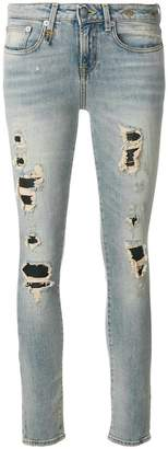 R 13 ripped skinny jeans