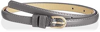 Silver Urbanism Women's Solid Color D-Buckle Skinny Fashion Belt ()