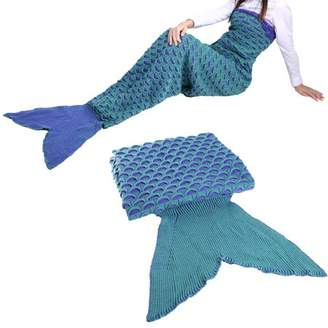 Cocosasa 2 Colors Lovely Wool Materials Knitted Mermaid Tail Blanket Lazy Bag SY017