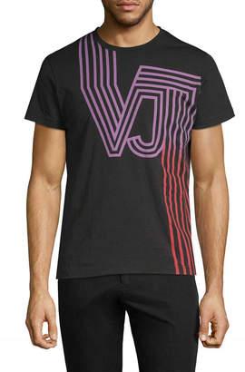 Versace Striped Logo T-Shirt