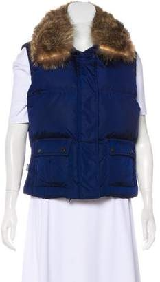 Burberry Fur-Trimmed Down Vest