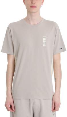 Champion Tears Beige Cotton T-shirt