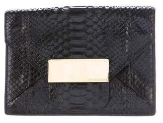 Pre Owned At Therealreal Michael Kors Python Envelope Clutch