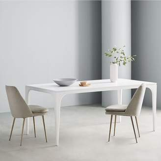 west elm Adam Court Dining Table - White Lacquer