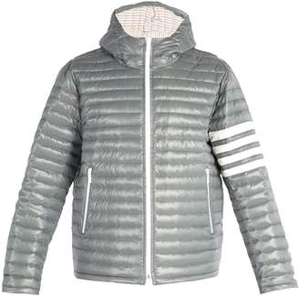 Thom Browne 4-bar stripe quilted down-filled jacket