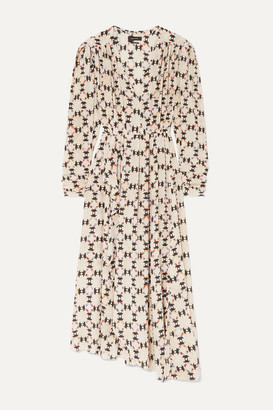 Isabel Marant Blaine Asymmetric Printed Stretch-silk Crepe De Chine Maxi Dress - Ecru
