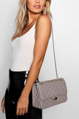boohoo PU Square Quilted Cross Body