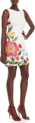 Desigual Floral Graphic Lace Sheath Dress