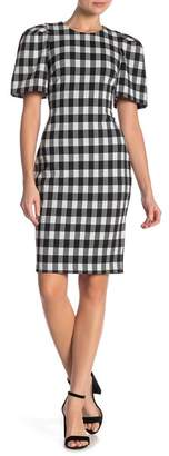 Buffalo David Bitton Modern American Designer Check Puff Sleeve Dress