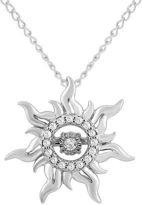 ENCHANTED .COM FINE JEWELRY BY DISNEY Enchanted Disney Fine Jewelry Womens Diamond Accent Sterling Silver Rapunzel Twinkling Pendant Necklace