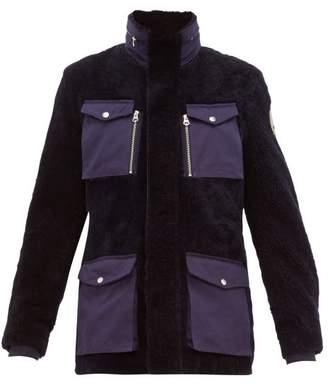Schott Flap Pocket Shearling Field Jacket - Mens - Navy