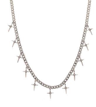 Nicole Miller Spike Cross Fringe Necklace