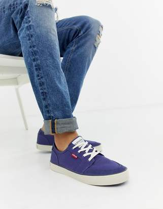 Levi's stevens canvas trainer blue