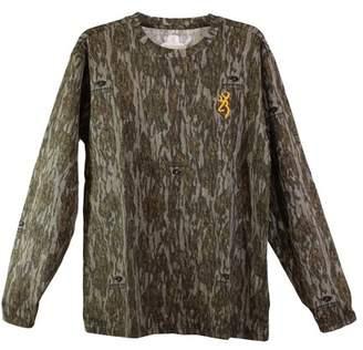 Browning Wasatch-CB Long Sleeve T-Shirt Mossy Oak Original Bottomlands, Medium
