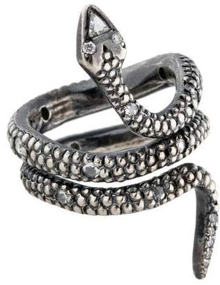 Moritz Glik Sterling Diamond Snake Ring