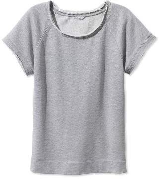 L.L. Bean L.L.Bean Signature Short-Sleeve Scoopneck Sweatshirt
