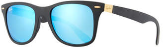 Ray-Ban Wayfarer Literforce Mirrored Sunglasses