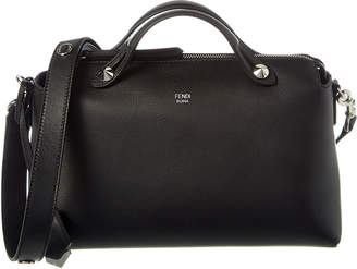 Fendi By The Way Small Leather Boston Bag