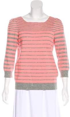 Rebecca Taylor Wool & Cashmere Striped Sweater