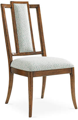 Tommy Bahama St. Barts Splat Side Chair - Ivory/Sky