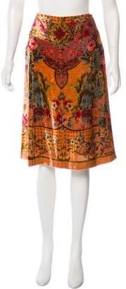 Etro Velvet Printed Skirt
