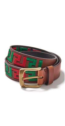 J.Mclaughlin Caerus Leather Belt in Greek Key