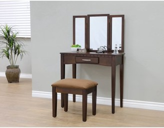 Home Craft Furniture Home Craft 3-Piece Bedroom Vanity, Multiple Colors
