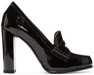 Saint Laurent Black Patent Universite Loafer Heels