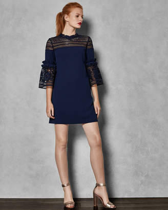 Ted Baker LUCILA Lace panel bell sleeve tunic