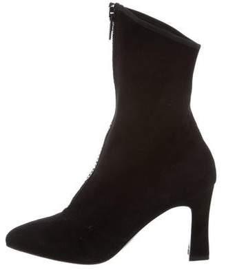 St. John Embellished Suede Boots