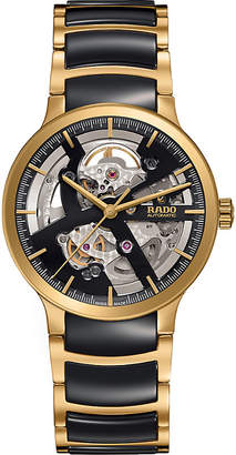 Rado R30180162 Centrix gold and ceramic open heart watch