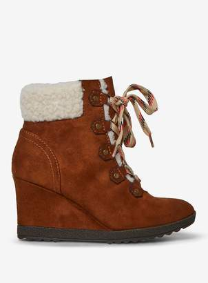 Dorothy Perkins Womens Tan 'Aphex' Wedge Boots