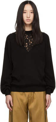 See by Chloe Black Lace Insert Sweater