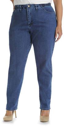 Lee Side-Elastic Straight Leg Jeans - Plus