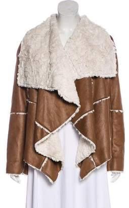Mcginn Faux Fur Open-Front Jacket w/ Tags