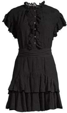 Rebecca Taylor Dree Eyelet Ruffle Dress