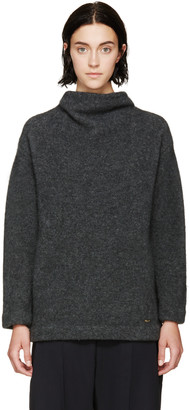 Dsquared2 Grey Stand Collar Sweater $1,695 thestylecure.com