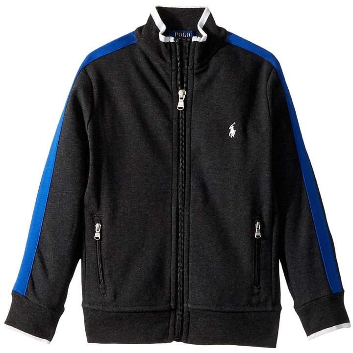 Cotton Interlock Track Jacket (Little Kids/Big Kids)