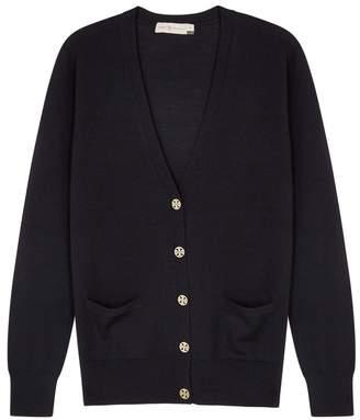 Tory Burch Madeline Navy Wool Cardigan