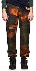 Heron Preston Men's Camouflage Cotton Cargo Pants - Grn. Pat.