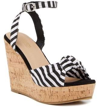 Catherine Malandrino Vertigo Cork Wedge Sandal