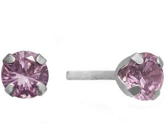 JCPenney FINE JEWELRY 1/2 CT. T.W. Color-Enhanced Pink Diamond Stud Earrings
